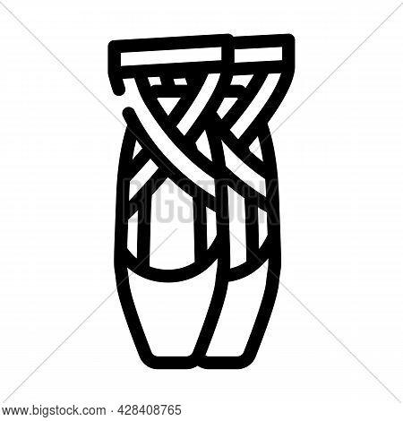 Shoes Dancer Line Icon Vector. Shoes Dancer Sign. Isolated Contour Symbol Black Illustration