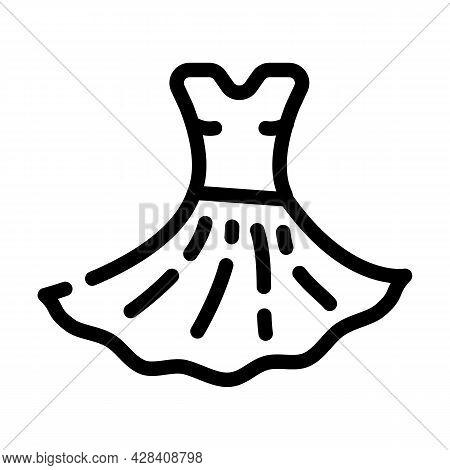 Dress Dancer Line Icon Vector. Dress Dancer Sign. Isolated Contour Symbol Black Illustration