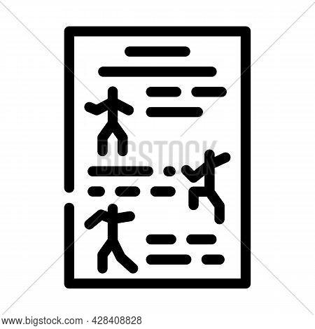 Instruction Dancer Line Icon Vector. Instruction Dancer Sign. Isolated Contour Symbol Black Illustra