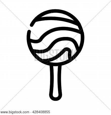 Lollipop Dessert Line Icon Vector. Lollipop Dessert Sign. Isolated Contour Symbol Black Illustration