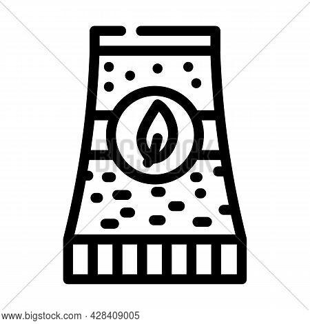Bio Energy Plant Tube Line Icon Vector. Bio Energy Plant Tube Sign. Isolated Contour Symbol Black Il