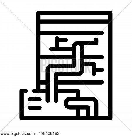 Eco Energy Scheme Line Icon Vector. Eco Energy Scheme Sign. Isolated Contour Symbol Black Illustrati