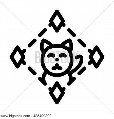 Game About Digital Collectible Cats In Nft Form Line Icon Vector. Game About Digital Collectible Cat