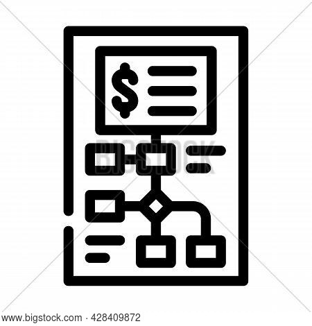 Startup Investment Analysis Line Icon Vector. Startup Investment Analysis Sign. Isolated Contour Sym