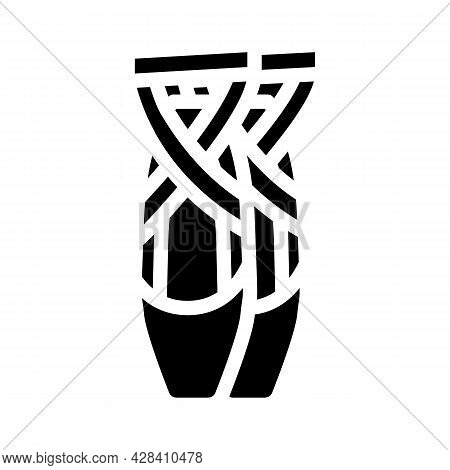 Shoes Dancer Glyph Icon Vector. Shoes Dancer Sign. Isolated Contour Symbol Black Illustration