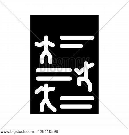 Instruction Dancer Glyph Icon Vector. Instruction Dancer Sign. Isolated Contour Symbol Black Illustr