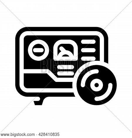 Gas Meter Fuel Indicator Glyph Icon Vector. Gas Meter Fuel Indicator Sign. Isolated Contour Symbol B