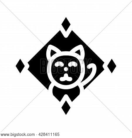 Game About Digital Collectible Cats In Nft Form Glyph Icon Vector. Game About Digital Collectible Ca