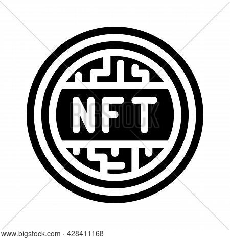 Nft Token Glyph Icon Vector. Nft Token Sign. Isolated Contour Symbol Black Illustration