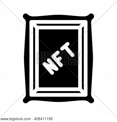 Nft Digital Painting Glyph Icon Vector. Nft Digital Painting Sign. Isolated Contour Symbol Black Ill