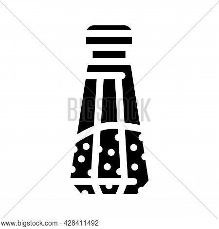 Salt In Salt Shaker Glyph Icon Vector. Salt In Salt Shaker Sign. Isolated Contour Symbol Black Illus