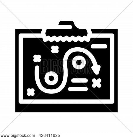 Startup Strategy Board Glyph Icon Vector. Startup Strategy Board Sign. Isolated Contour Symbol Black