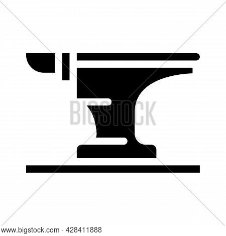 Anvil For Forging Metal Glyph Icon Vector. Anvil For Forging Metal Sign. Isolated Contour Symbol Bla