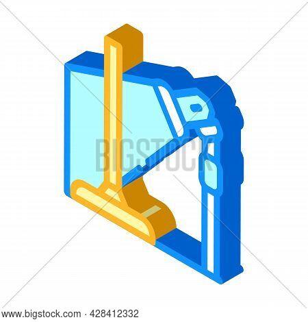 Equipment For Dancer Leg Isometric Icon Vector. Equipment For Dancer Leg Sign. Isolated Symbol Illus