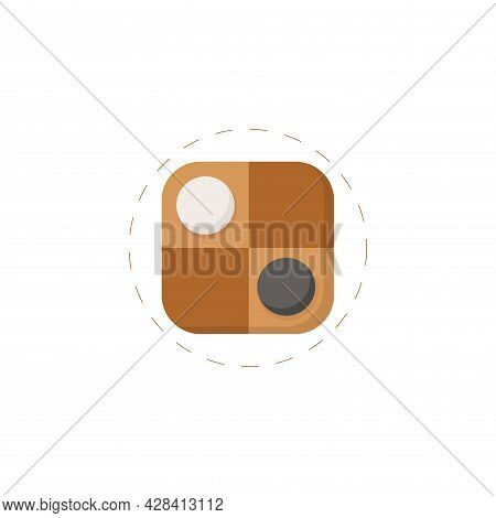 Checkers Clipart. Checkers Simple Vector Clipart. Checkers Isolated Clipart.
