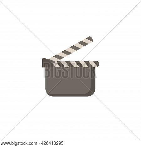 Movie Clapper Clipart. Movie Clapper Simple Vector Clipart.