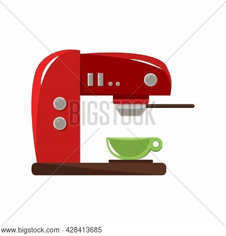 Coffee Maker Clipart. Coffee Maker Simple Vector Clipart.