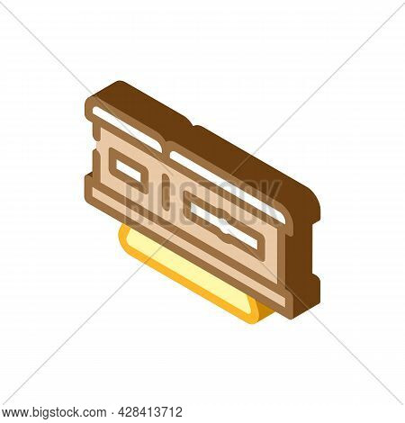 Coffin On Stand Isometric Icon Vector. Coffin On Stand Sign. Isolated Symbol Illustration