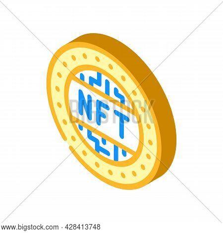 Nft Token Isometric Icon Vector. Nft Token Sign. Isolated Symbol Illustration