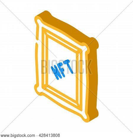 Nft Digital Painting Isometric Icon Vector. Nft Digital Painting Sign. Isolated Symbol Illustration