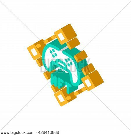 Nft And Games Isometric Icon Vector. Nft And Games Sign. Isolated Symbol Illustration