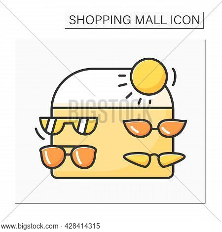 Accessories Color Icon. Stylish, Luxury Eyewear And Sunglasses. Modern, Fashion And Trendy Summer Ac