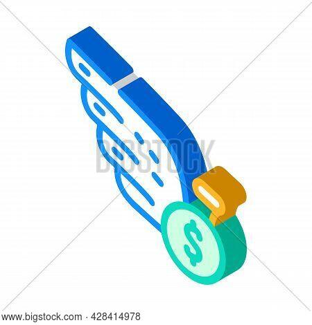 Cash Profit Isometric Icon Vector. Cash Profit Sign. Isolated Symbol Illustration