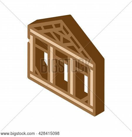 Steel Structure Isometric Icon Vector. Steel Structure Sign. Isolated Symbol Illustration