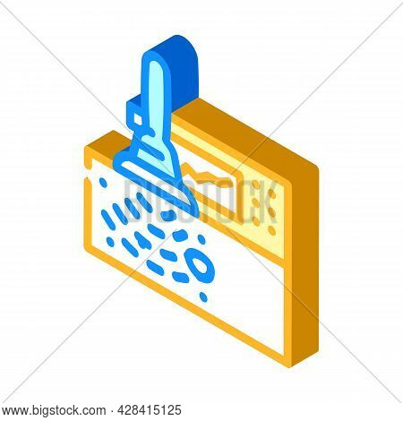 High Frequency Ultrasound Isometric Icon Vector. High Frequency Ultrasound Sign. Isolated Symbol Ill