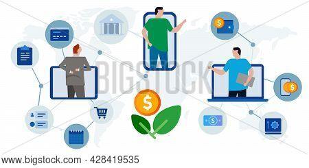 Investment Growth Money Wealth Financial International Globally Connected Collaborate Worldwide Inve