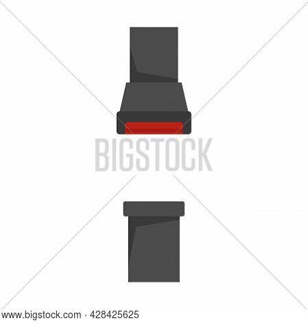 Auto Seatbelt Icon. Flat Illustration Of Auto Seatbelt Vector Icon Isolated On White Background