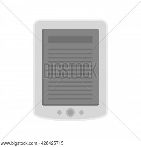 Ebook Tablet Icon. Flat Illustration Of Ebook Tablet Vector Icon Isolated On White Background