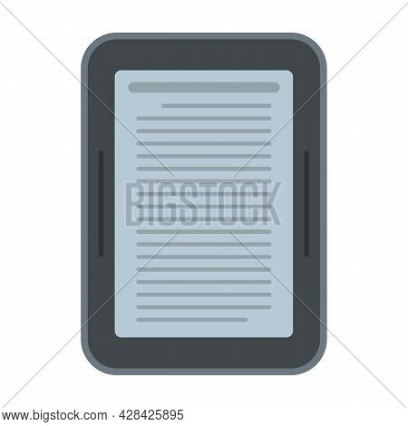 Ebook Device Icon. Flat Illustration Of Ebook Device Vector Icon Isolated On White Background