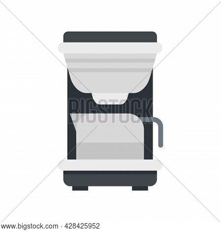 Coffee Machine Maker Icon. Flat Illustration Of Coffee Machine Maker Vector Icon Isolated On White B