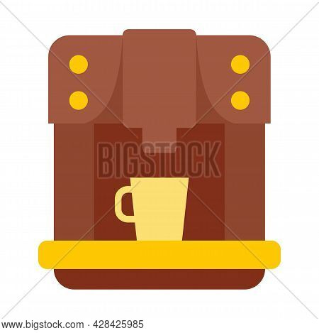 Commercial Coffee Machine Icon. Flat Illustration Of Commercial Coffee Machine Vector Icon Isolated
