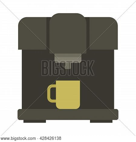 Barista Coffee Machine Icon. Flat Illustration Of Barista Coffee Machine Vector Icon Isolated On Whi