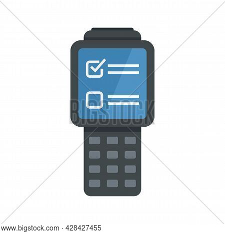 Inventory Check Device Icon. Flat Illustration Of Inventory Check Device Vector Icon Isolated On Whi