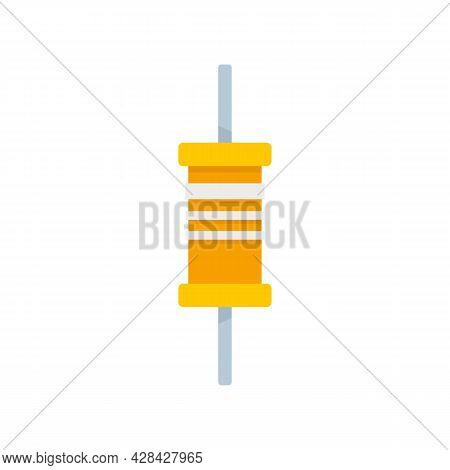Phone Condensator Icon. Flat Illustration Of Phone Condensator Vector Icon Isolated On White Backgro