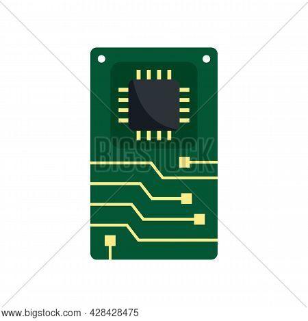 Telephone Motherboard Icon. Flat Illustration Of Telephone Motherboard Vector Icon Isolated On White