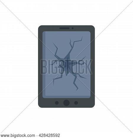 Broken Smartphone Display Icon. Flat Illustration Of Broken Smartphone Display Vector Icon Isolated