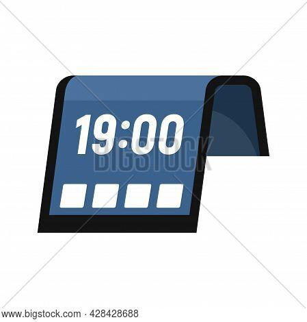 Flexible Display Icon. Flat Illustration Of Flexible Display Vector Icon Isolated On White Backgroun