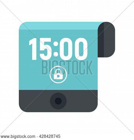Contemporary Flexible Display Icon. Flat Illustration Of Contemporary Flexible Display Vector Icon I