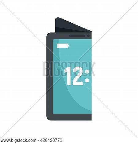 Creative Flexible Display Icon. Flat Illustration Of Creative Flexible Display Vector Icon Isolated