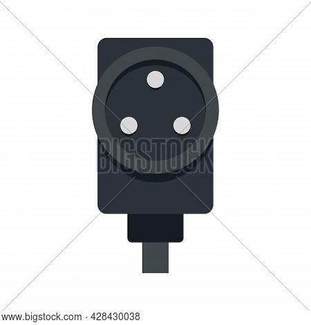 Power Socket Icon. Flat Illustration Of Power Socket Vector Icon Isolated On White Background