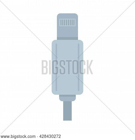 Light Cable Adapter Icon. Flat Illustration Of Light Cable Adapter Vector Icon Isolated On White Bac