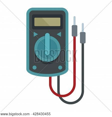 Multimeter Device Icon. Flat Illustration Of Multimeter Device Vector Icon Isolated On White Backgro
