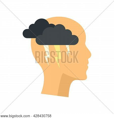 Brainstorming Icon. Flat Illustration Of Brainstorming Vector Icon Isolated On White Background