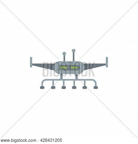 Irrigation Drone Icon. Flat Illustration Of Irrigation Drone Vector Icon Isolated On White Backgroun
