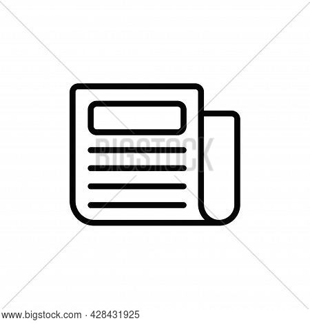 Newspaper Icon Isolated On White Background. Newspaper Icon In Trendy Design Style For Web Site And