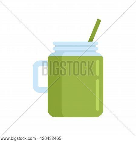 Celery Smoothie Icon. Flat Illustration Of Celery Smoothie Vector Icon Isolated On White Background